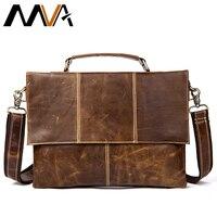 MVA Men S Bag Genuine Leather Shoulder Bags Messenger Bag Men Leather Handbags 12 Laptop Crossbody