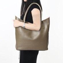 Large Capacity Composite Genuine Leather Women Handbags Luxury Brand Designer Lady Tote Bag Solid Casual Women Leather Handbags
