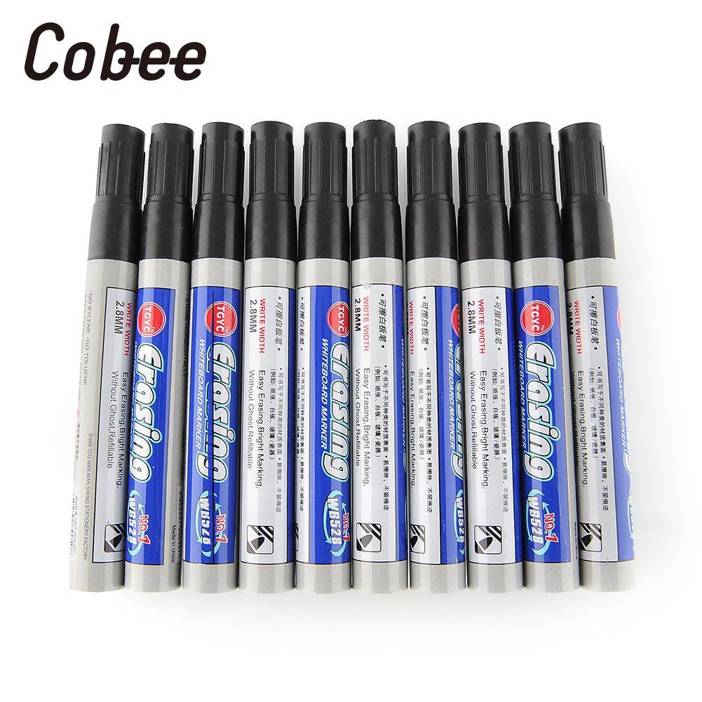 10Pcs Black Whiteboard Marker Pens Dry Wipe Erasable Office Supplies10Pcs Black Whiteboard Marker Pens Dry Wipe Erasable Office Supplies