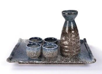 Japanese wine jug Sake pot  Ceramic pot pot Wine Japanese  South Korea Qing wine set