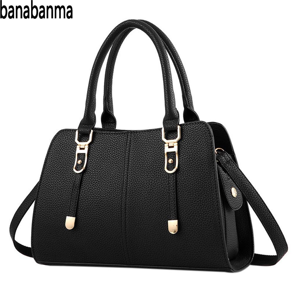 Banabanma Women Handbag Fashion PU Lether Satchel Handbag Single Shoulder Oblique Cross Bag Fashion Bags for Women 2018 ZK40