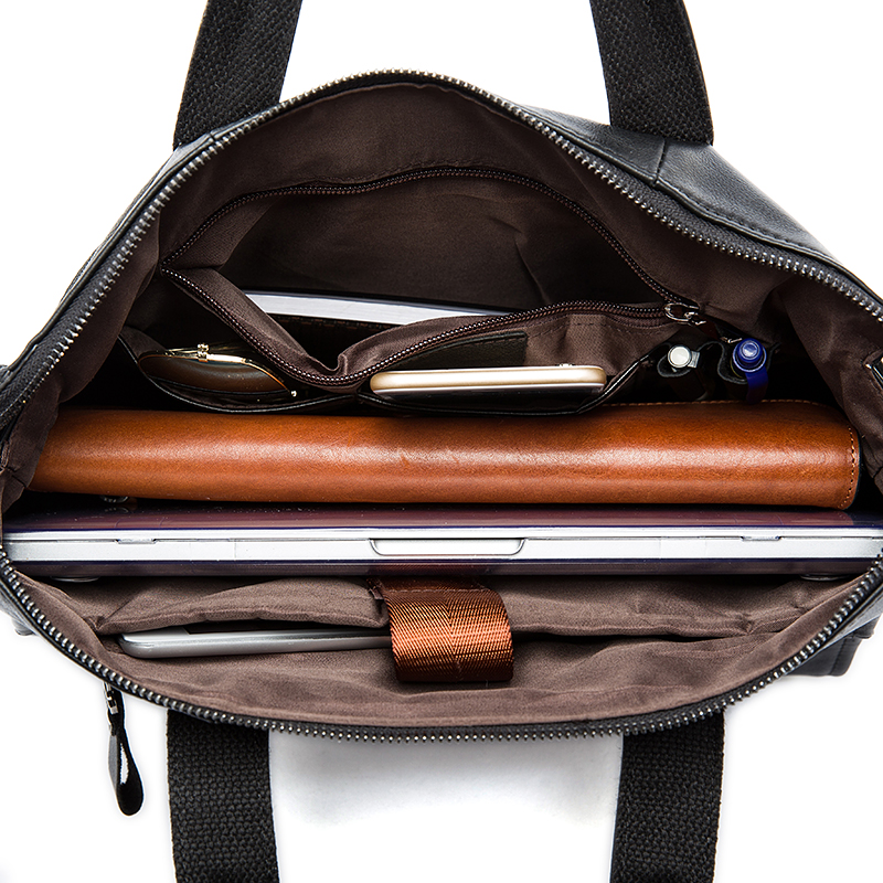 Image 5 - MVA Men Briefcases Genuine Leather Bags Men Briefcase Handbags Office Bags For Men's Bag Leather Laptop Bag Business Briefcases-in Briefcases from Luggage & Bags
