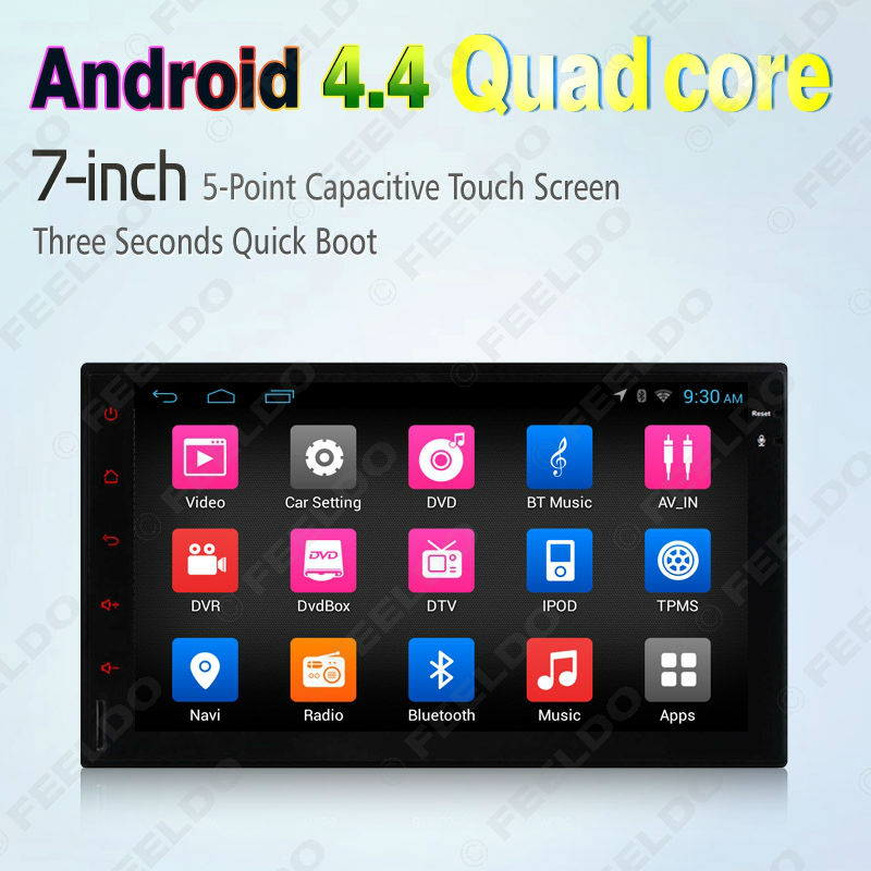 LEEWA Android 4,4 игрок автомобиля (без DVD) gps навигации для Honda CRV Fit Jazz Wi-Fi 3g Bluetooth руль OBD 2DIN ISO