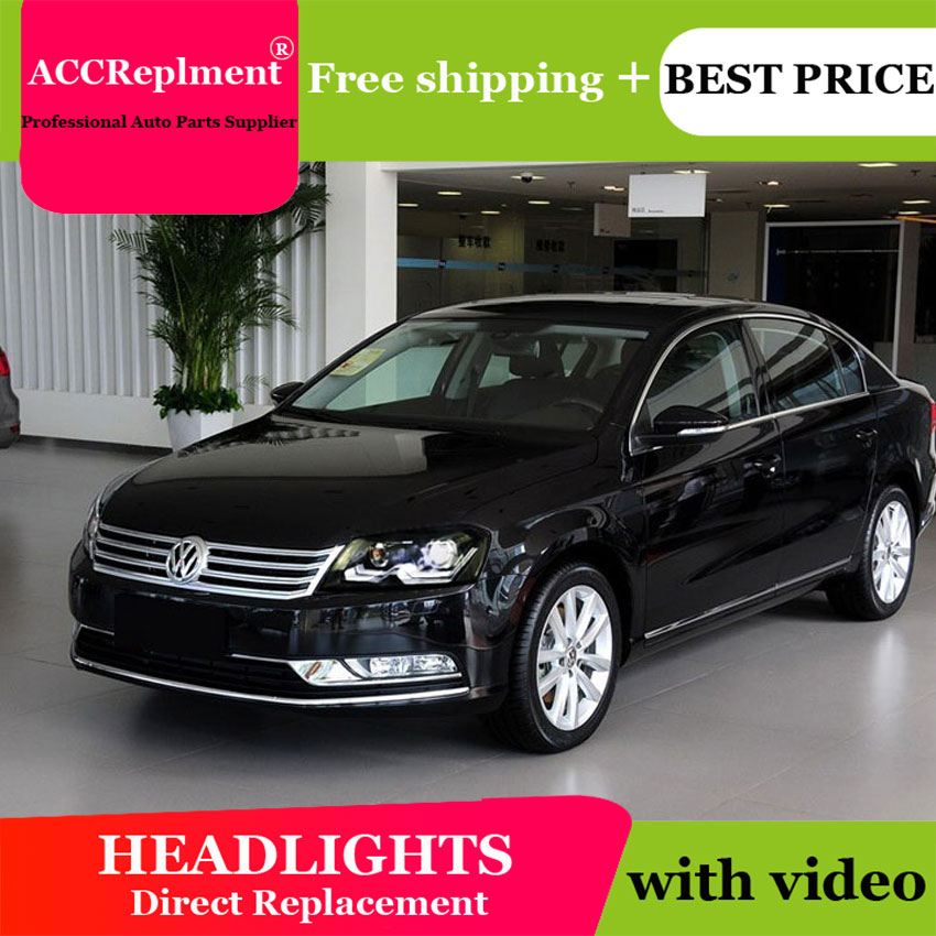 Car Styling For VW Passat B7 headlights 2011-2014 Europe Version Volks Wagen Passat headlight drl H7 hid Bi-Xenon Lens low beam