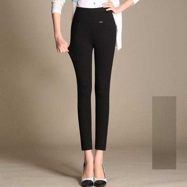 Donna S-XXXXL 4XL Women Plus Size High-Waist Ankle-Length Leggings Elastic Fitness Stretch Material Thin Capris Pants K281Z