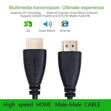 Sl high speed hdmi kabel stecker-stecker vergoldet hdmi 1,4 v version 1080 p 3d für ps3 projektor hd lcd apple tv computer kabel(China (Mainland))