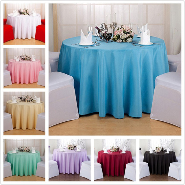 Colorful Round Table Cloth Polyester Tablecloth White Linen Cloths For  Weddings Decorative Home Hotel Restaurant Decorations