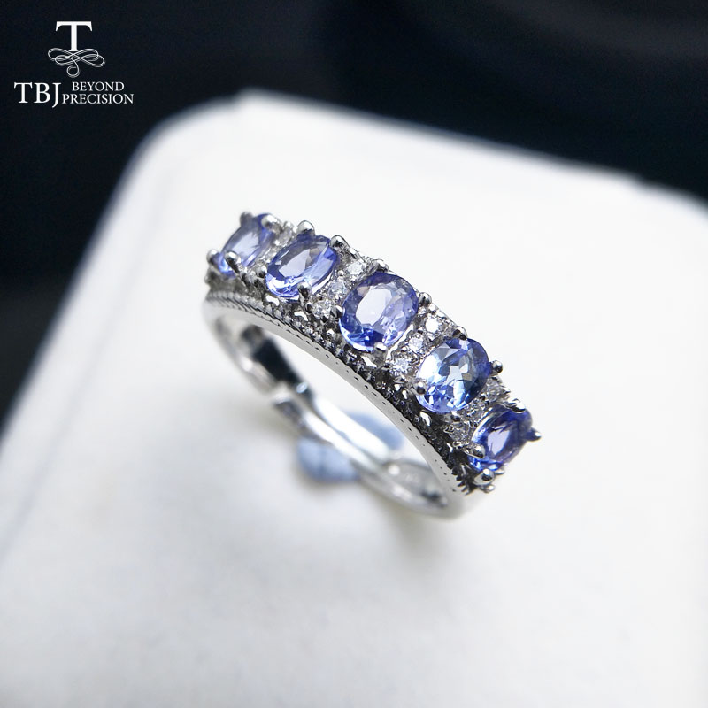 TBJ,11.11 special price Natural Good color 1.1ct Blue Tanzanite gemstone lady Ring in 925 sterling silver fine jewelry withbox tbj delicate small ring with natural good color blue tanzanite gemstone lady ring in 925 sterling silver fine jewelry for women