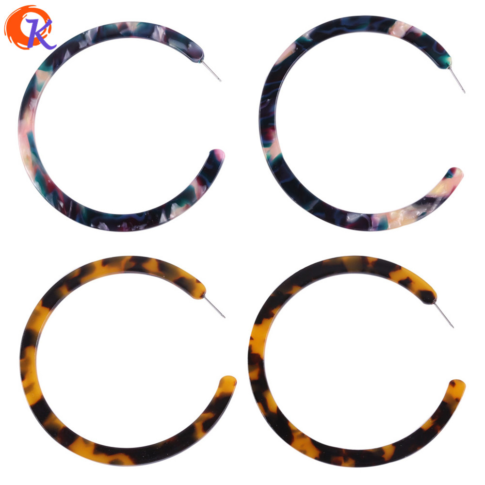 Cordial Design 77MM Women Brincos Geometric C Letter Fashion Big Earrings Acrylic Material For Elegant Design Earring Jewelry