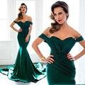 Vestido De Festa Fora Do Ombro Sexy Vestidos de Noite Formal 2017 Prom Vestidos Longos Custom Made