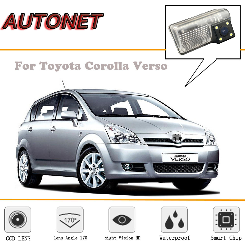 AUTONET Rear View camera For Toyota Corolla Verso Corolla Spacio 2001~2007 E121 /CCD/Reverse Camera/license plate camera