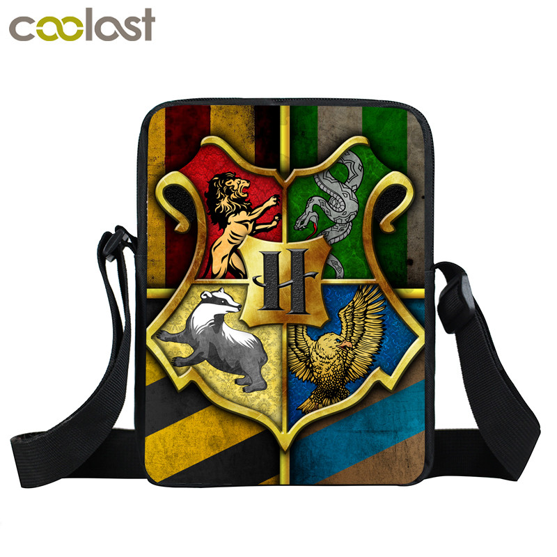 Hogwarts Gryffindor Slytherin Mini Messenger Bag Boys Girls Shoulder Bags Kid Bookbag Children School Bag Crossbody Bags