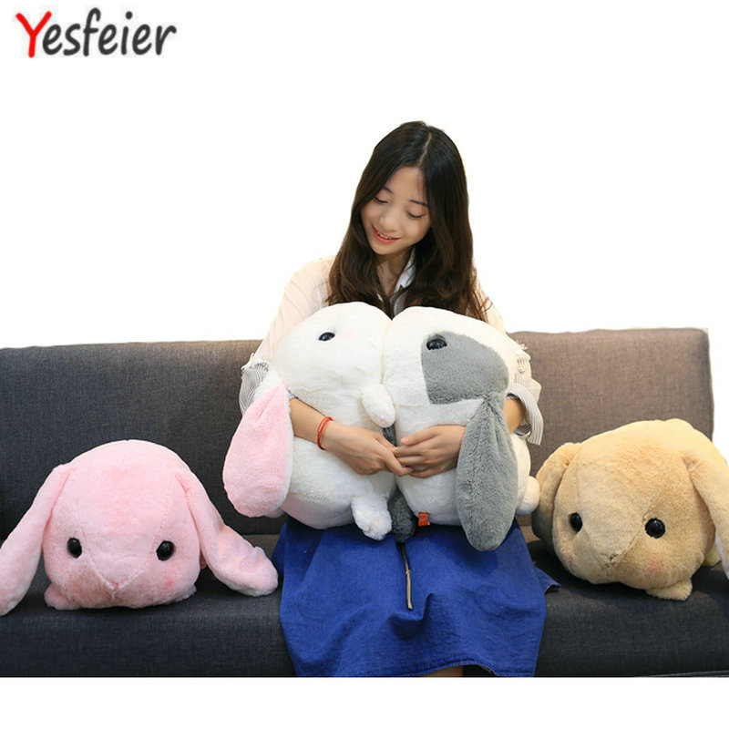 Yesfeier Wholesale new toy 45cm Cute Soft Rabbit plush toy adorable fat rabbit Amuse plush doll Kids Girl Best birthday Gift