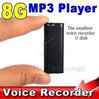2017 3 1 Stereo MP3 Müzik Çalar + 8 GB Bellek depolama USB Flash Sürücü + Mini Dijital Ses Kaydedici Kalem Dictaphone