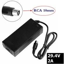 2A 29.4V charger for 24V 25.2V 25.9V 29.4V 7S lithium battery pack 29.4V recharger e-bike charger RCA-Steckverbinder gkl211 recharger battery charger for leica surveying instruments