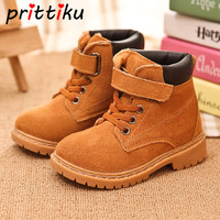 Baby Toddler Boys Girls Autumn Winter Warm Martin Boots Little Kids Genuine Leather Suede Booties Big