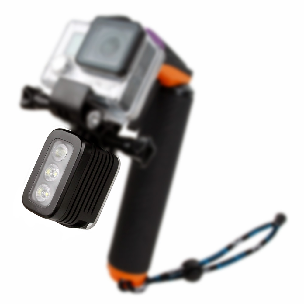 Gopro 30M Waterproof Underwater Diving LED Video Light for Gopro Hero 1 2 3 3+ 4 5 6 SJCAM SJ4000 SJ6000 Xiao Yi Sport Camera