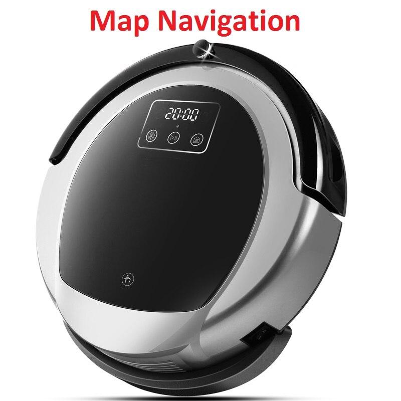 2018 Robot Aspirador Intelligente Pianificazione Mappa di Navigazione Wet And Dry Robot Aspirapolvere B6009 Con Smart Memory, Serbatoio di Acqua