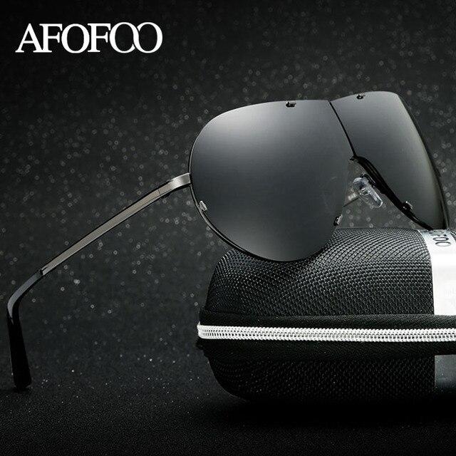 AFOFOO Men's Fold Polarized Sunglasses Brand Designer Metal Men Driving Sun glasses Male UV400 Shades Goggle Eyewear
