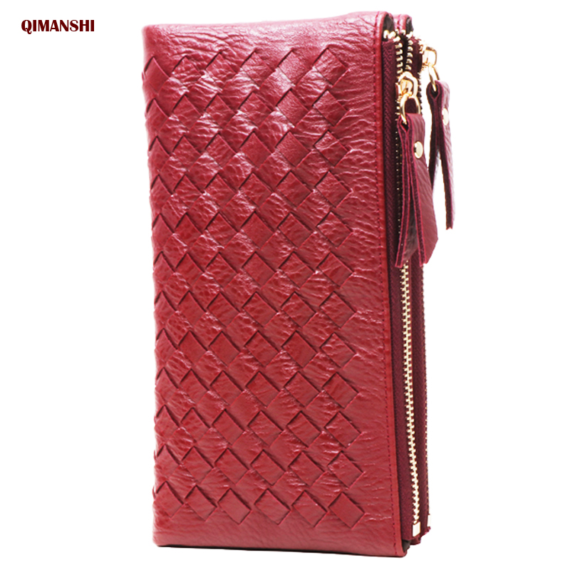 knitting Women Wallet and Purse Big Capacity Ladies Clutch Fashion Leather wallet female Card Holder Zipper coin purse for woman fashion women leather wallet female long card holder big stone wallets casual clutch zipper coin purse