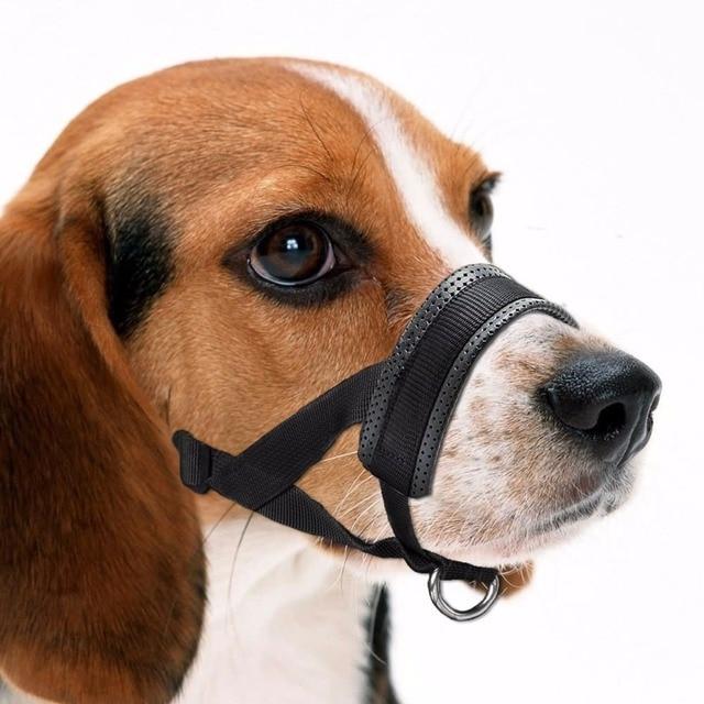 Anti Barking Dog Muzzle Adjule Nylon Strap Loop For Small Medium Large Dogs To