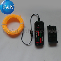 2.3mm yellow 5M electroluminescent wire/el cable/el strip/el neon light/lighting/el products+3v Inverter (4pc/Lots)