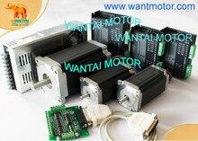 (German, USA Ship& Free) 3Axis CNC Wantai Stepper Motor 428oz&1232oz,7.8A 3D Printer 57BYGH115-003B & DQ860MA