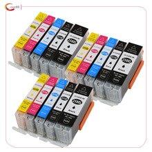 цена на 15 pcs PGI-250 CLI-251 ink cartridge For canon PIXMA MG5420 MG5422 MG5520 MG5522 MG6420 IP7220 MX722 MX922 IX6820 printer ink