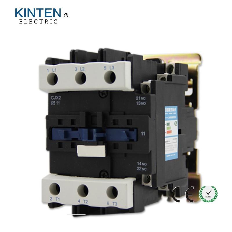 220V Coil Voltage 3 Phase 1NO 1NC Motor Controller AC Contactor 660V 125A