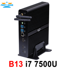 Partaker B13 Mini PC with 7th Gen Kaby Lake Intel Core i7 7500U Mini PC 4K HTPC Computer Winows 10 DDR4 Linux Ubuntu