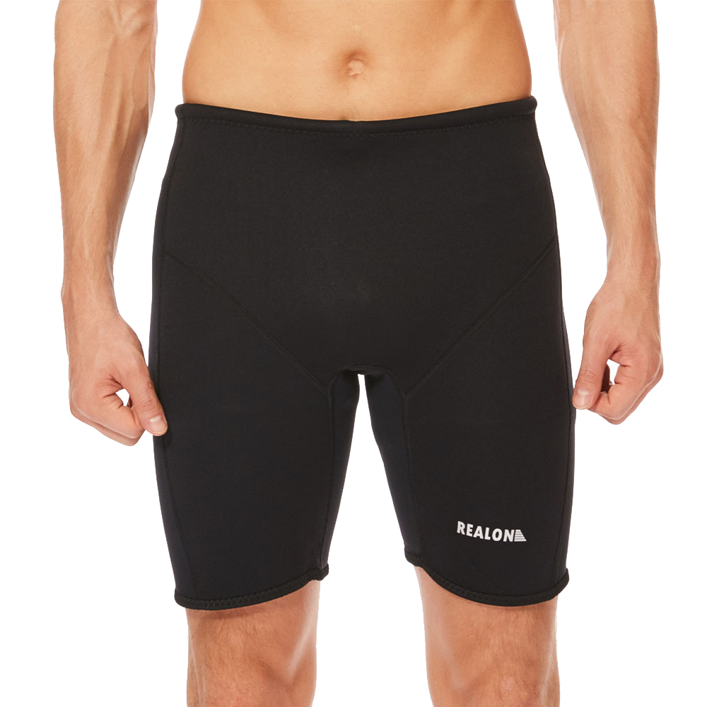 Large Black Realon Neoprene Diving Scuba Wetsuit Shorts