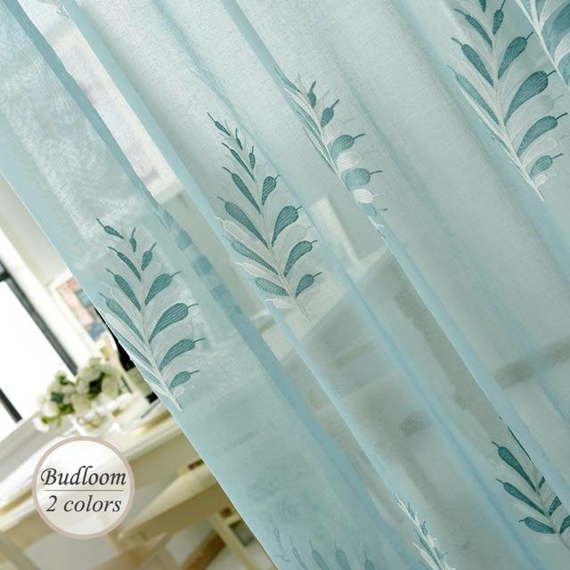 aliexpress.com : acquista moderno ricamato tulle tende per camera ... - Colori Per Soggiorno Moderno 2