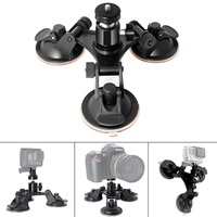 Gopro Accessories 3 Leg Car Suction Cup Holder Triangle Mini Tripod Head Adapter For Go Pro