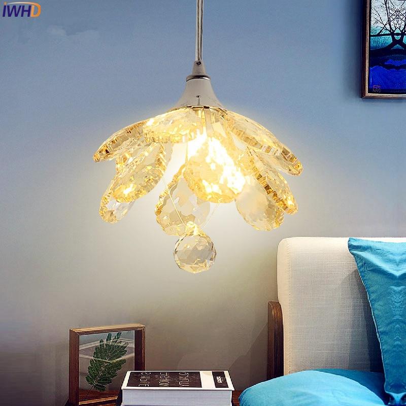 IWHD Little Modern Crystal Pendant Lights Fixtures Home Indoor Lighting Cristal Handing Lights Hanglamp Lustres De Cristal недорго, оригинальная цена
