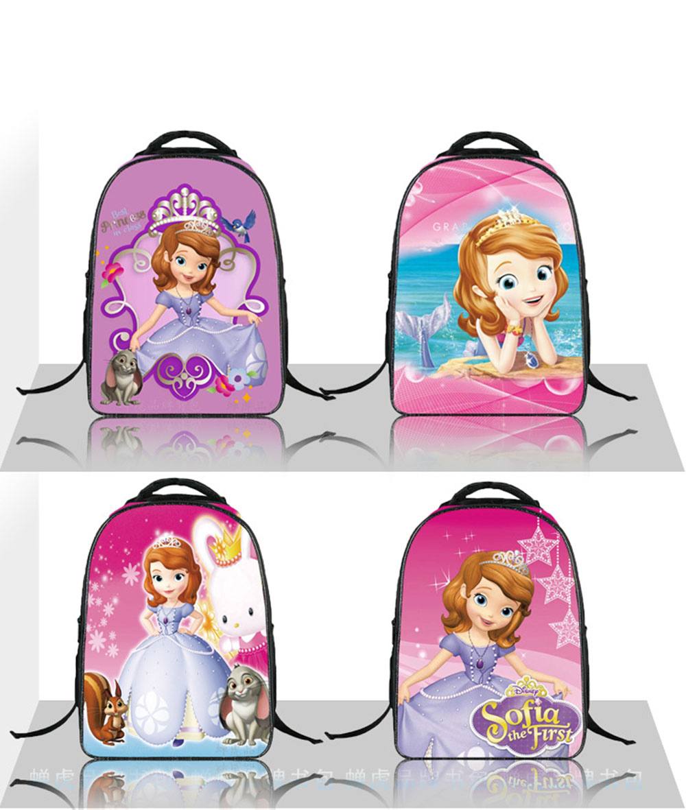 2018 Fashion Lovely Cartoon Princess Sofia Girls School Bags Children Kids Backpack Bag Satchel Mochila