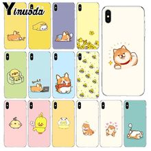 Yinuoda cartoon little yellow duck and dog Silicone Phone Cover for Apple iPhone 8 7 6 6S Plus X XS MAX 5 5S SE XR Cellphones куртка утепленная duck and cover duck and cover du002emgmf68