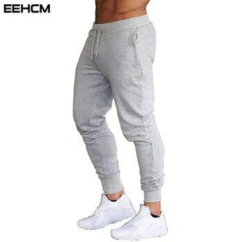 EEHCM été nouvelle mode pantalons de section mince hommes survêtement décontracté pantalon de musculation gymnases fitness entraînement hommes pantalons de survêtement