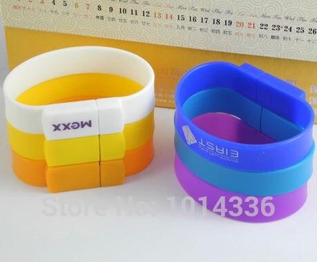 colorful bracelet USB Flash Drive memory stick Hand wrist watch pen drive 4GB 8GB 16GB flash drive creative Pendrive S363#21