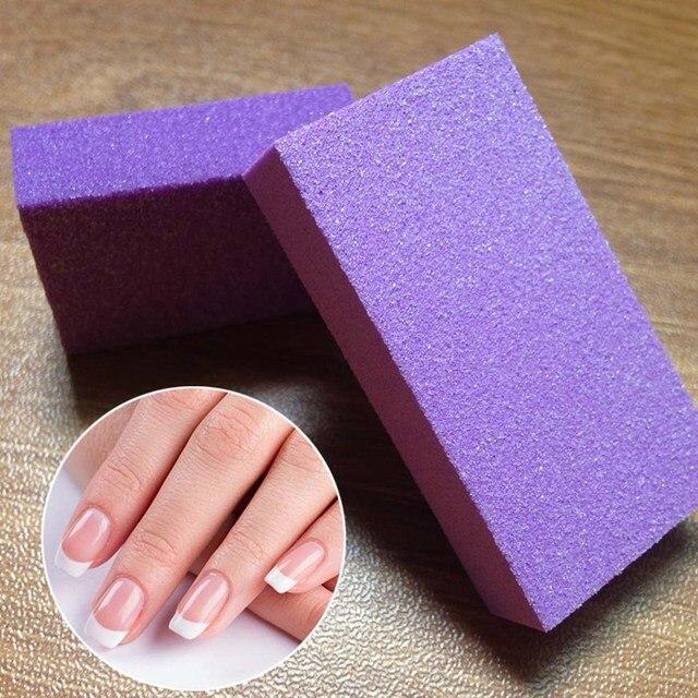 1 piezas uñas lijado púrpura bloque de labios Pro diseños de manicura de pulido de para las mujeres cuidado conjunto de herramientas