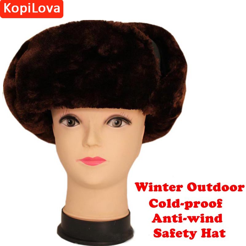 Kopilova 1pcs Winter Outdoor Cold-proof Hat Anti-wind Work Head Protective for Adult Workplace Cap Free Shipping lady s skullies womail delicate pregnant mothers soft velvet cap maternal prevention wind hat w7