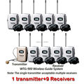 Takstar WTG-900 Wireless Tour Guide/Talkback System 780-850MHZ use for Travelling synonous translation 1transmitter+9 Receivers