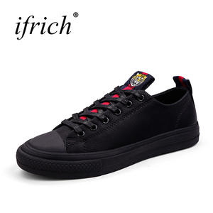 cadff8f1819 ifrich Casual Leather Men Shoes Male Designer Sneakers