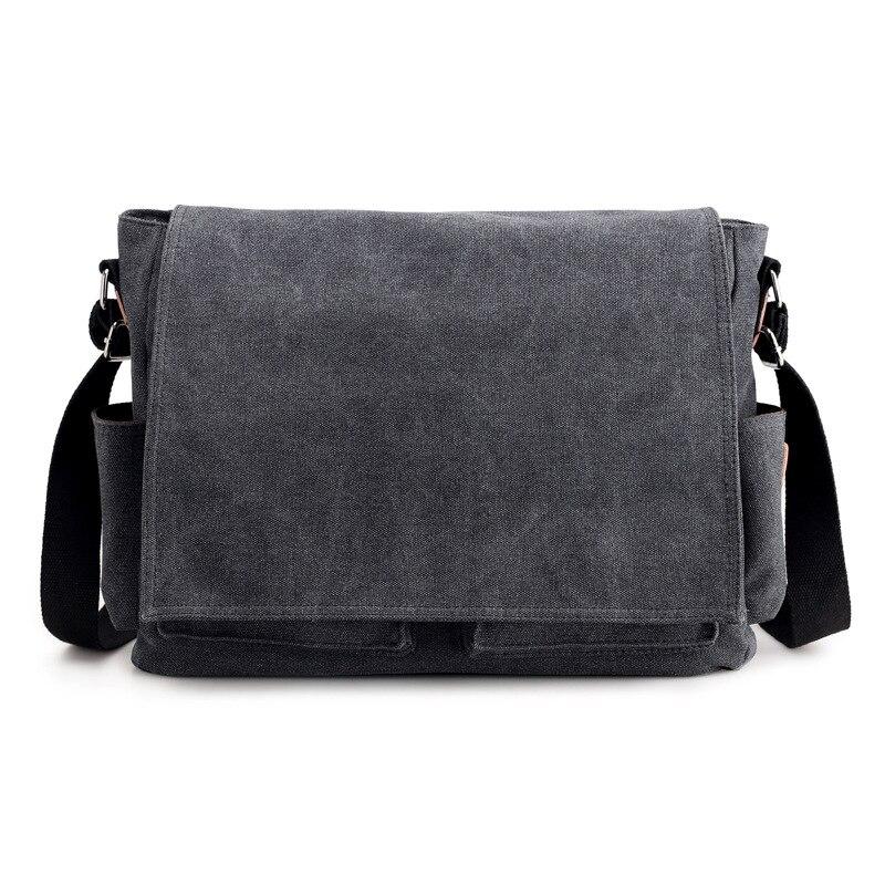 Image 3 - 2019 брендовый дизайнерский мужской портфель, холщовые сумки через плечо для мужчин, 14 дюймов, сумки на плечо для ноутбука, удобная офисная мужская сумка мессенджер-in Портфели from Багаж и сумки