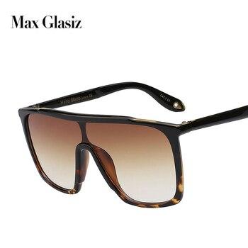 ماكس glasiz 2017 الصيف نمط الكلاسيكية النساء نظارات شمسية كبيرة مربع uv400 نظارات شمس بإطارات ضخمة التدرج نظارات الرجال