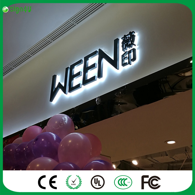 ФОТО Factoy Outlet Outdoor Backlit LED metal (=galvanized sheet ) signs with black painting