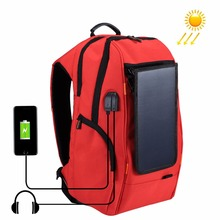 PULUZ Outdoor Multi-function Solar Panel Power Comfortable Breathable Casual Camera Backpack Laptop Bag for 3C /Dslr Accessories