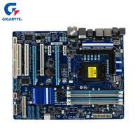 Gigabyte ga p55a ud3r 100% Оригинал материнская плата LGA 1156 DDR3 USB3.0 16 г P55 A P55A UD3R настольных плата SATA3 используется P55A UD3R