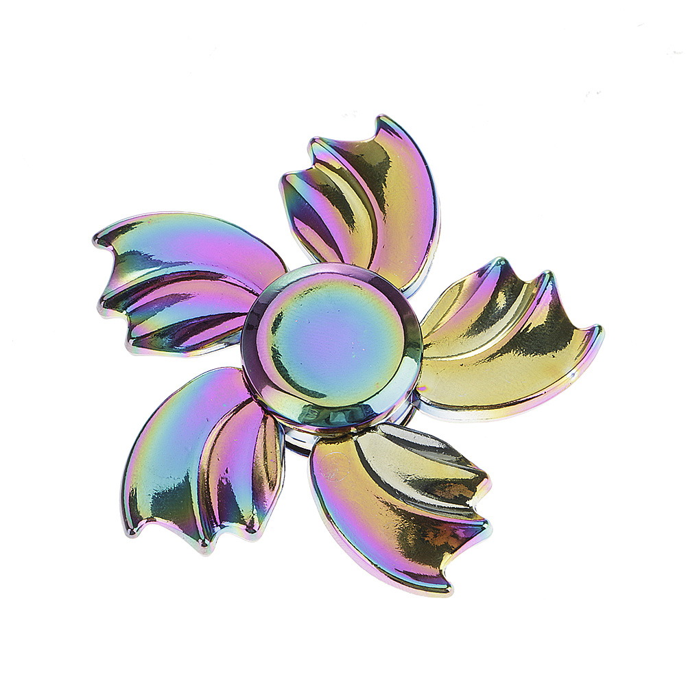 Rainbow Petal Fidget Hand Finger Spinner EDC Focus Gift Toy for Adults Kids New