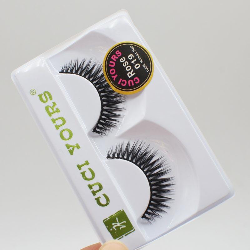 10Pairs Handmade Soft Long Makeup Cross Thick False Eyelashes Natural Black Fake EyeLashes Extension Make Up Beauty Tools C155