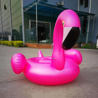 150CM Giant Inflatable Pink Purple Flamingo Pool Float Air Mattress For Swimming Adults Summer Holiday Water Toy Party Piscina